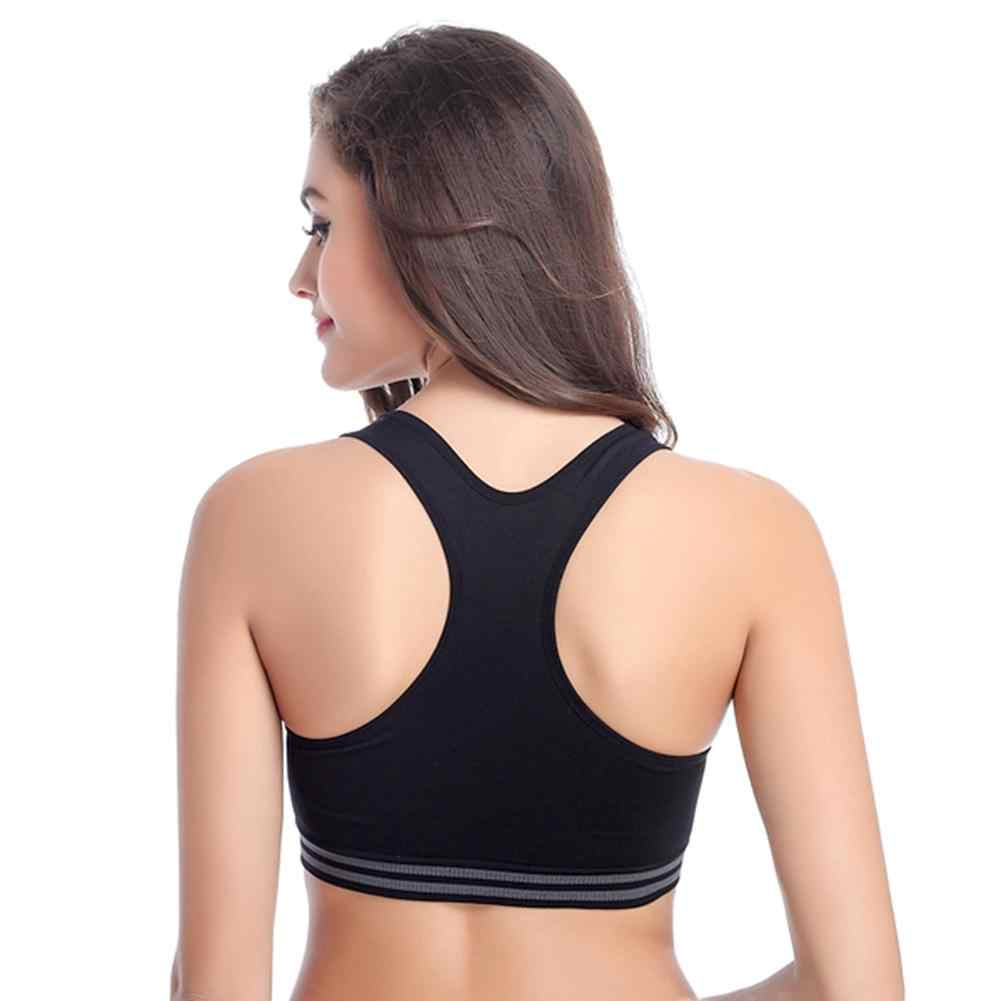 c073af229ceae ... Women Shock Proof Sports Bra New Breathable Fitness Yoga Underwear No  Bound Rims Push Up Bras ...