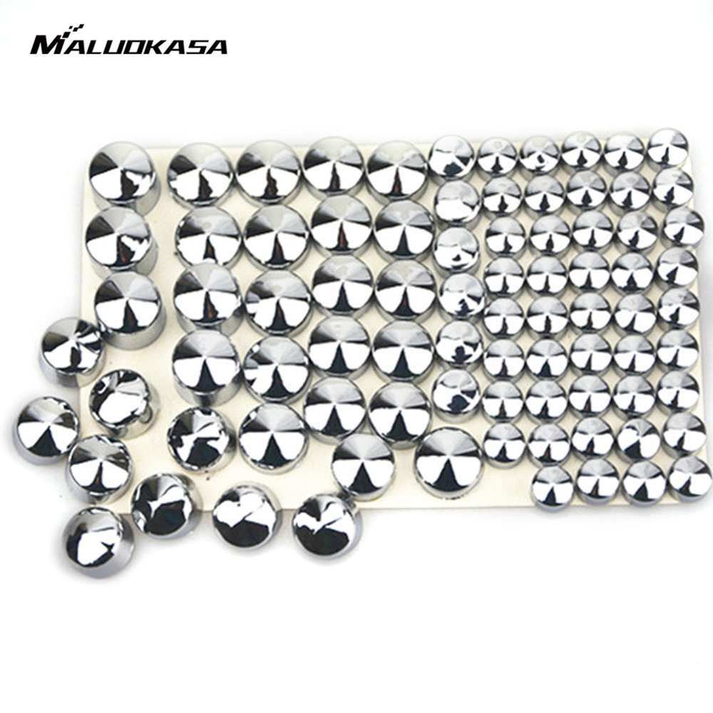 MALUOKASA Bolt Topper Caps Cover Nut For Harley Twin Cam Road King/FLH 1994-2006 Motorcycle Accessory Chrome Black Free Shipping chrome bolt topper cap cover nut kit fits for harley softail twin cam 2000 2006
