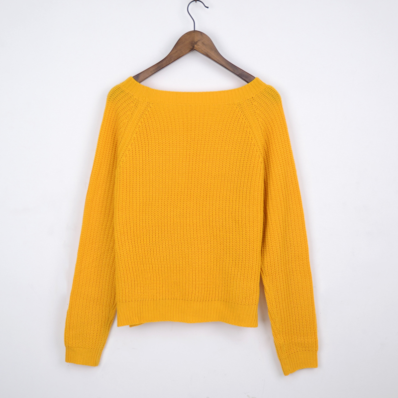 Autumn winter women sweaters and pullovers korean style long sleeve casual crop sweater slim solid knitted jumpers sweater mujer 20