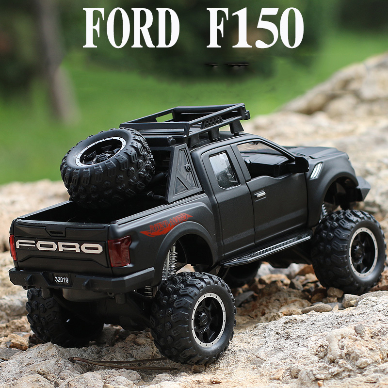 KIDAMI 1:32 Raptor F150 Pickup Refit Big Wheel MINIAUTO Alloy Pull Back Diecast car Model toys for children Gift