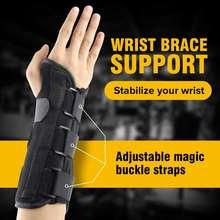 1pc Hand Brace Wrist Support Finger Splint Sprains Arthritis Carpal Tunnel Syndrome Bandage Belt Orthopedic