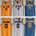 Venta Crenshaw UCLA #0 Russell Westbrook Azul Blanco Home Road Mens Retroceso Jerseys Del Baloncesto Insignias Del Bordado Cosido S-XXXL