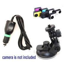 Бесплатная Доставка!! Присоске автомобильное Зарядное Устройство кронштейн для SJ5000 SJ4000 SJ1000 Действий Камеры DV