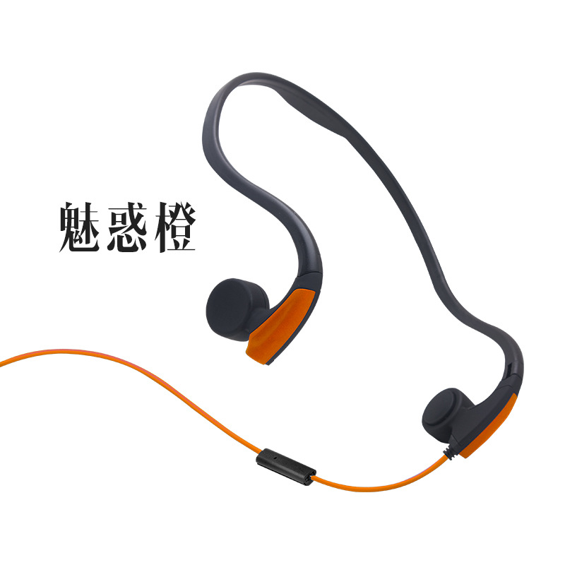2018 new 3.5mm mini BC900 bone conduction Waterproof and sweat headphone for outdoor sports hearing hanging