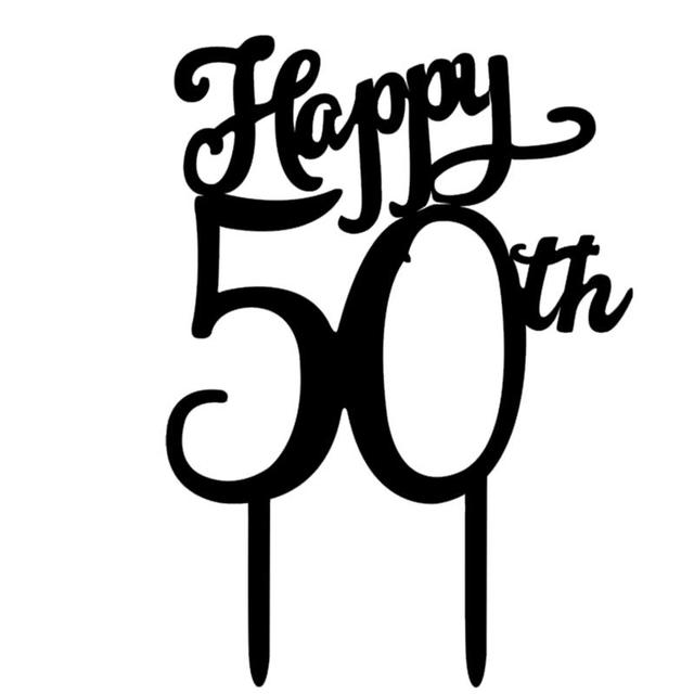 Happy 50th Birthday Cake Topper Acrylic 50th Cake Decoration