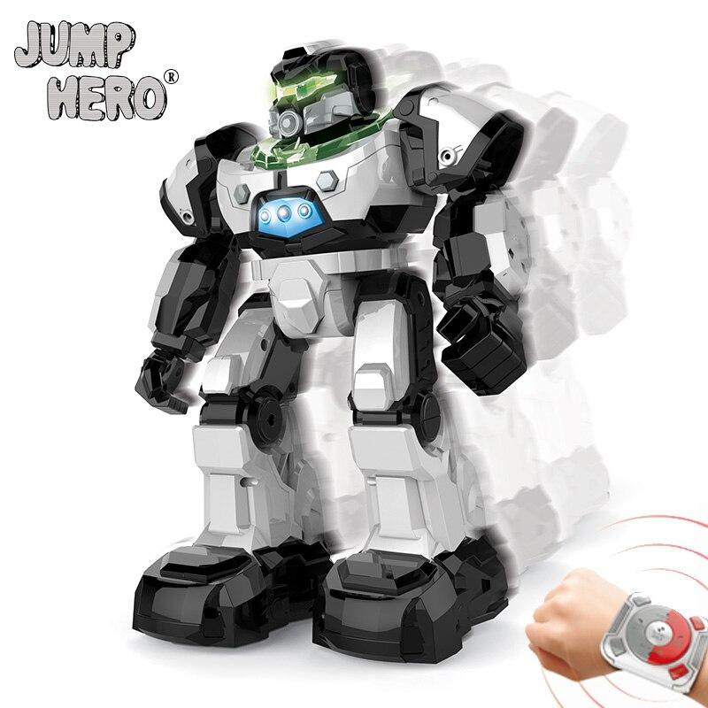 все цены на 2018 RC Robot Toys Watch Control Smart Follow Gesture Induction Remote Control Robots Walk Dance Music for Kids Birthday Gift #C