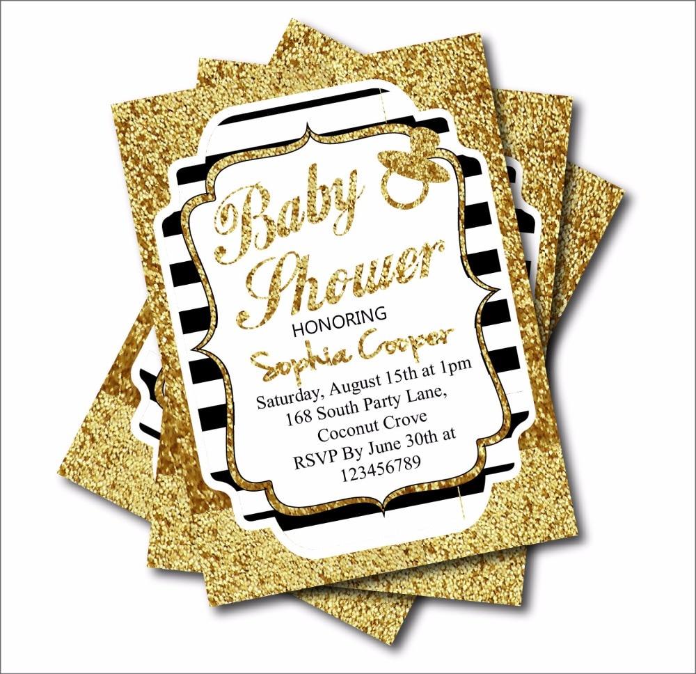 Aliexpress.com : Buy 20 pcs Gold Glitter Black Stripe Custom ...