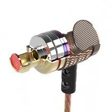 Металлические Hi Fi наушники KZ ED2 Special Edition с HD микрофоном для iPhone, стереогарнитура, бас, Внутриканальные наушники, наушники