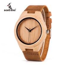 BOBO PÁSSARO WF18 Movimento Miyota Relógios para Mulheres Dos Homens relógios de Pulso de Couro Genuíno Clássico De Madeira De Bambu de Madeira Caixa de Presentes