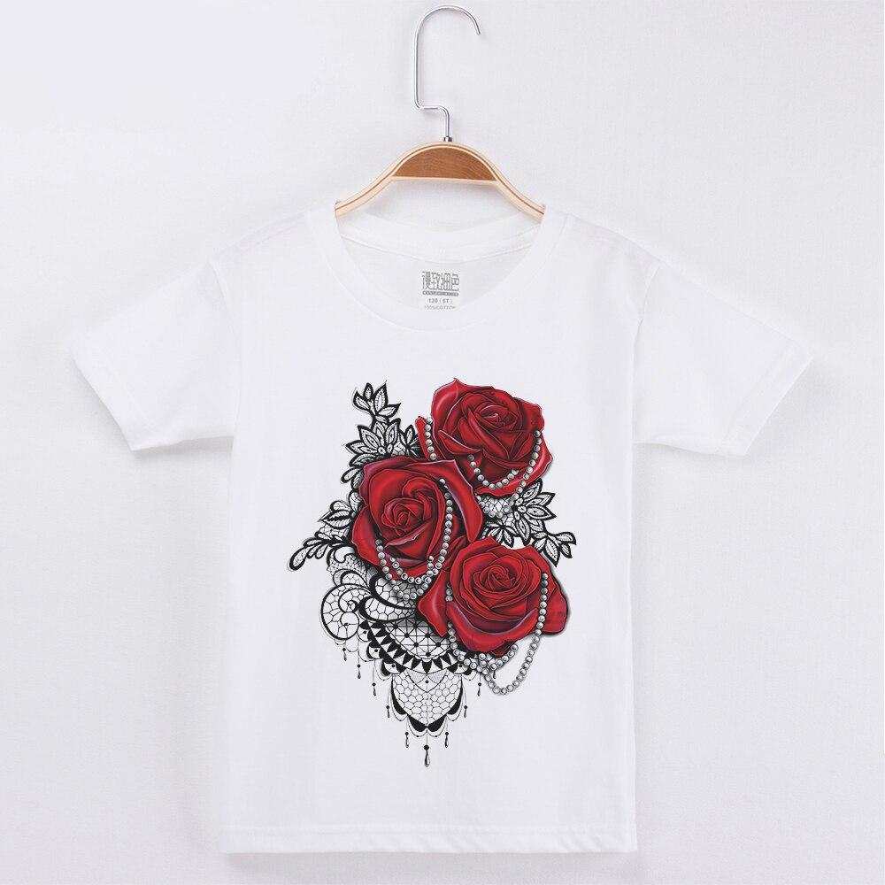 Kids T-Shirt Short-Sleeves Flower Girl Tops Children Clothes 3d-Printing Cotton New Boy