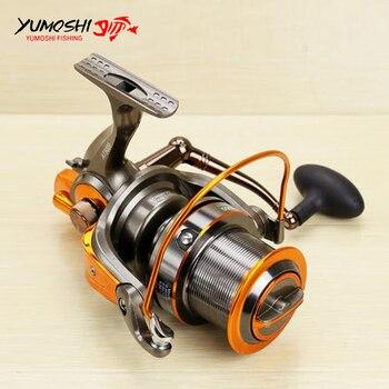 Big Fishing Reel Long Shot Sea SaltWater Carp Fishing Spinning Reel 8000 9000 4.6:1 13+1BB Full Metal Wire Cup carretilha pesca