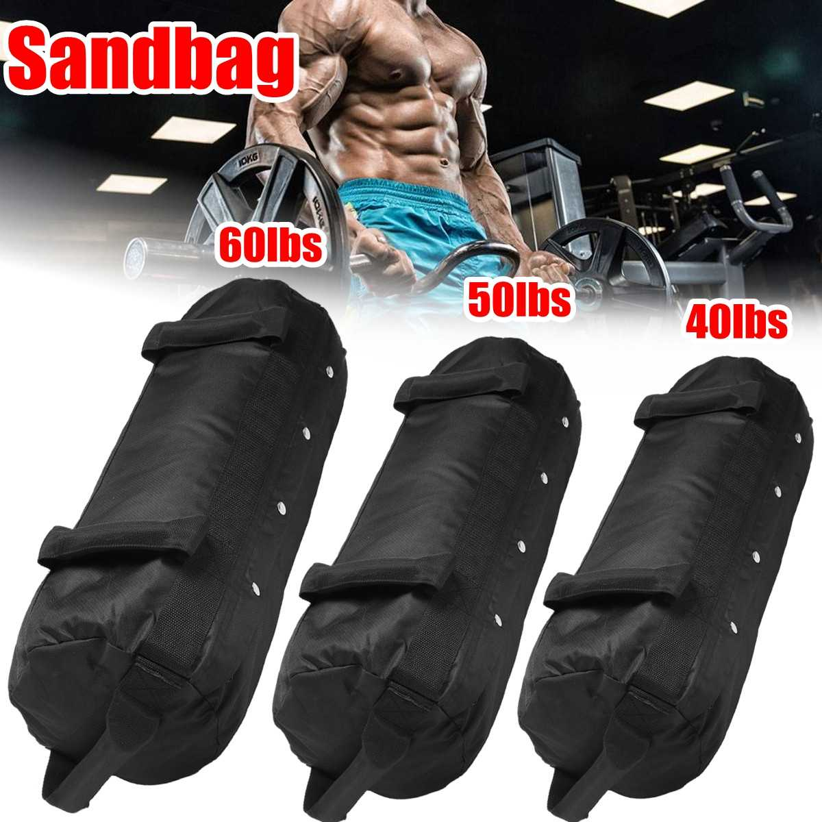 Weight Bags Weightlifting Sandbag Heavy Sand Bag MMA Boxing Crossfit  Military Power Training Body Shaper Fitness Equipment