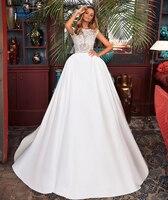 CLOUDS IMPRESSION Sexy Romantic 2019 Lace Wedding Dress Vintage Vestige De Noiva White Gown Bridal Dresses Muslim