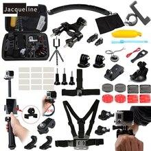 JACQUELINE for Accessories Kit Three Way Mount Holder For Gopro hero 5 4 3+ Xiaomi yi /SJCAM SJ6000 SOOCO EKEN H9R Camera