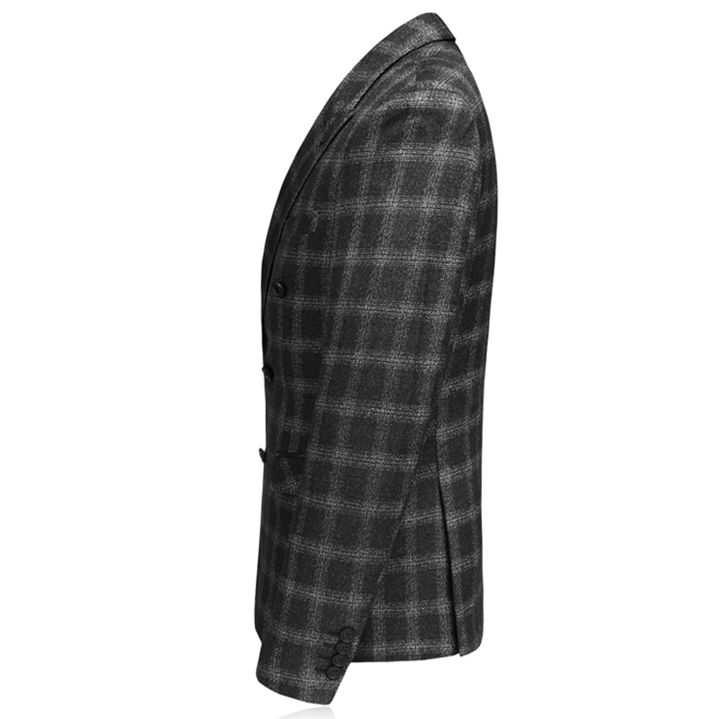 Marque Envmenst Hommes Ensemble Breasted Costume Qualité Casual Costumes Noir Smart Mariage 3 Mens Carreaux Marié Pcs Homme Double Haute 2018 De À Pc5vyS5nq