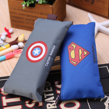 Hero American captain Batman Superman Pencil Case Kawaii Oxford Pencil Bag Storage Stationery School Supplie Student Kids Gift