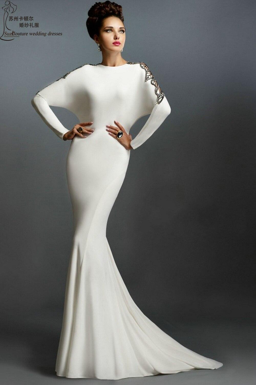 Aliexpress.com : Buy Long sleeve evening dresses 2015 ME1506 sexy ...