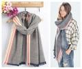 Za genuíno Grande marca moda Unissex lenços Tartan Xadrez Tarja Cachecol cuadros populares das mulheres tamanho grande lenços Xales