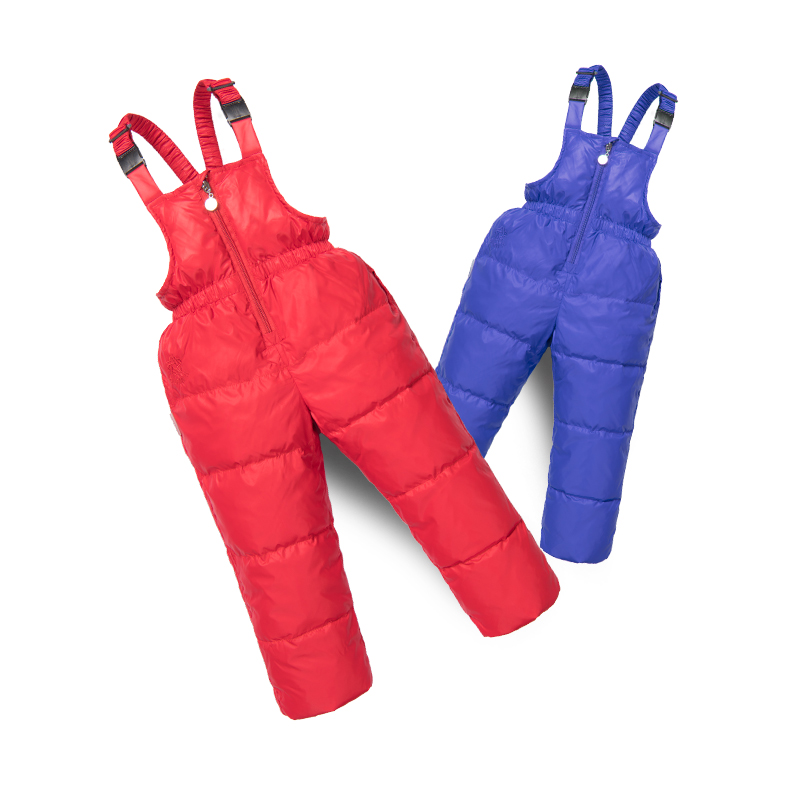 baby Down Baby Boys Girls Thicken Siamese Down Pants Winter Warm Ski Windproof baby cotton leggings baby thick pants
