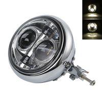 7 LED Headlight Bulb Bucket Assembly For Harley Softail Fatboy 1986 11 FLSTF FLST Motorcycle