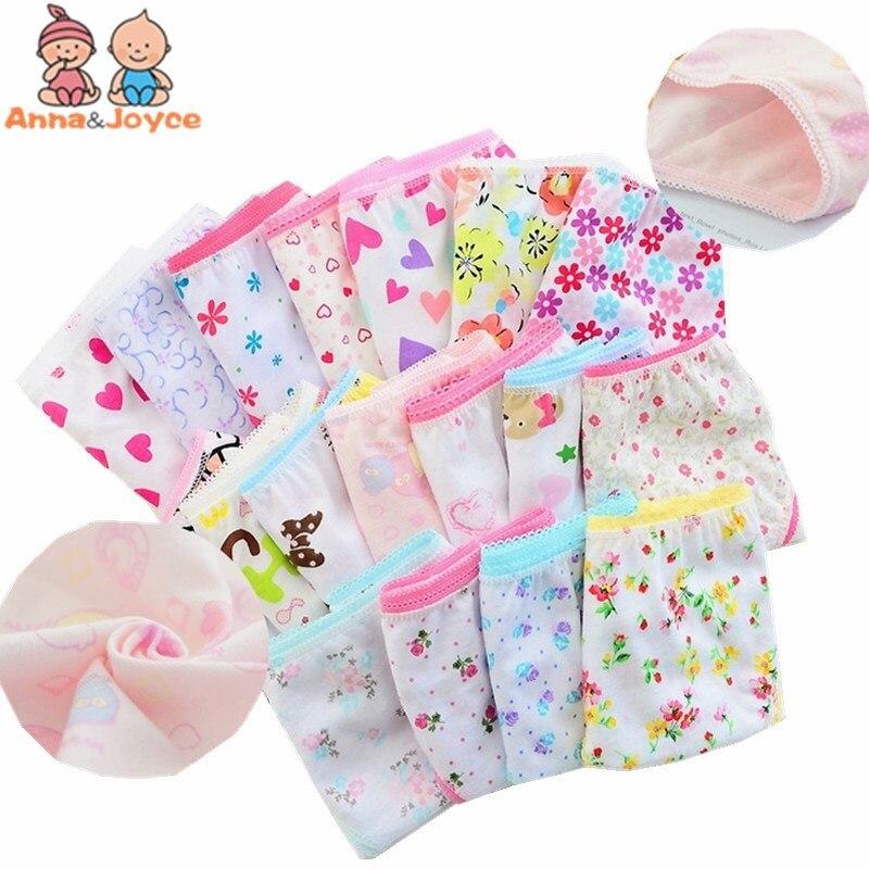 12pc/lot 100% Cotton Girls Underwear Chirdren Briefs Girls Panties  Kids Underwear  2-12 Years