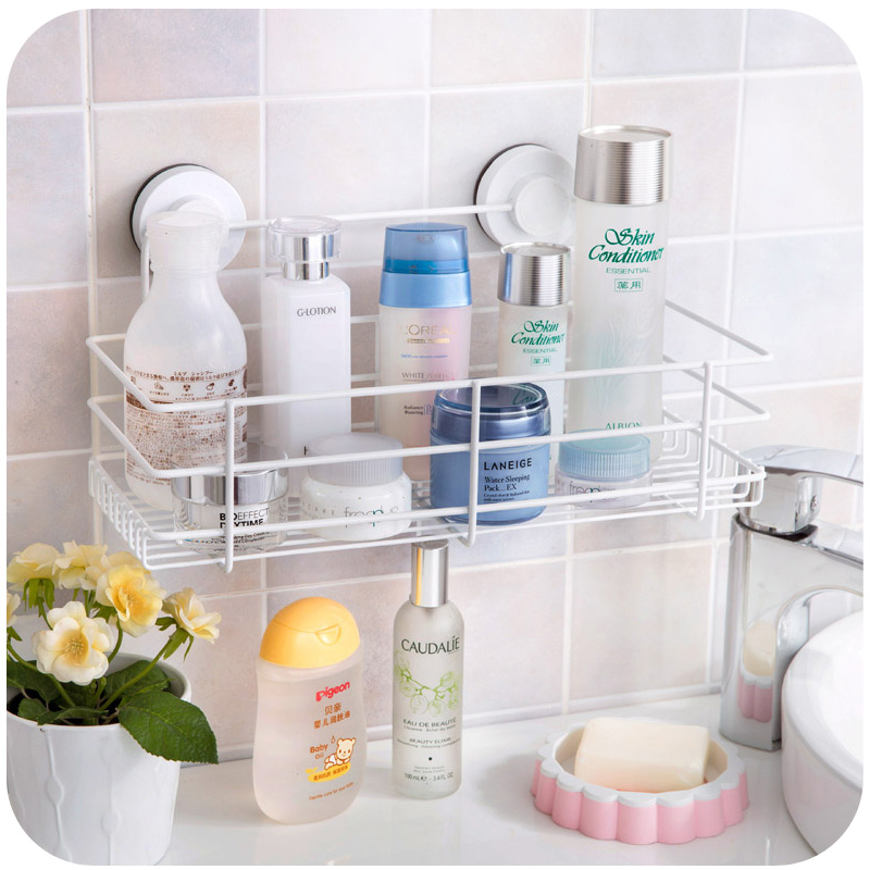 Powerful vacuum suction cups double storage rack, kitchen racks ...