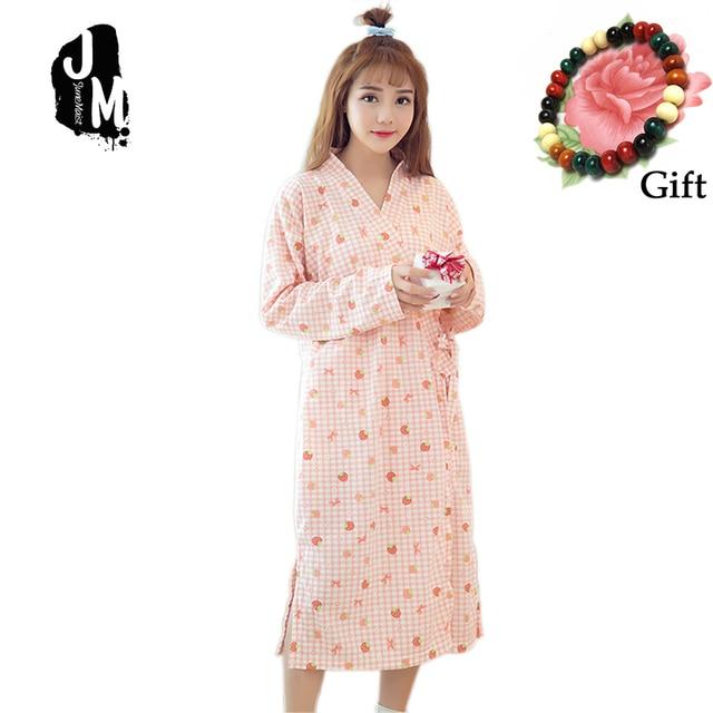 4921f1fd90 New Robe Woman Sleepwear Cotton Kimono Bathrobe Long Sleeve Floral  Bridesmaids Longue Femme Women Dressing Gown Bridesmaid Robe