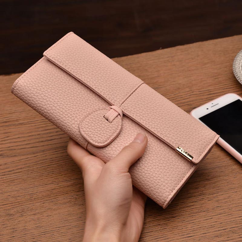 1pc Luxury Wallets Women Brand Lady Purses For Pu Leather Clutch Long Hasp Woman Wallet Multiple Bit Capacity Wallets