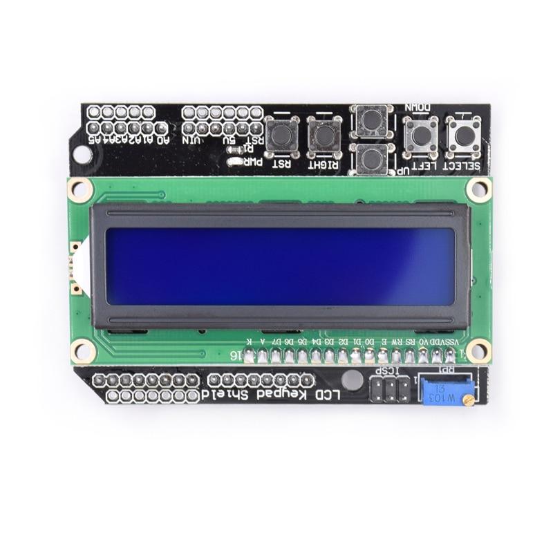 1PCS LCD Keypad Shield LCD1602 LCD 1602 Module Display For ATMEGA328 ATMEGA2560 raspberry pi UNO blue screen favourite 1602 1f