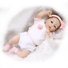 22″ 55 cm Lifelike Silicone Reborn Baby Dolls Cute Reborn Babies Play House Toy Kids Birthday Gift Princess Toys Brinquedos