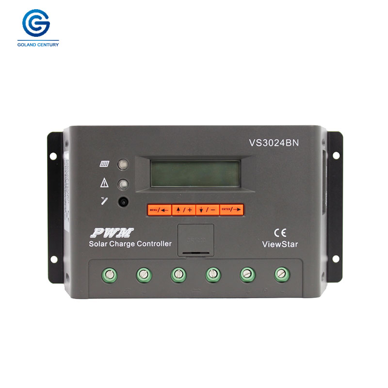 EPsolar VS3024BN 30A 12 V 24 V PWM Programmable panneau solaire chargeur contrôleur Support MT50 WIFI Bluetooth Elog01 accessoires