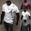 Homens verão 2016 Da Marca Casual Camisa Estampada T de Manga Curta T-shirt Da Forma Dos Homens Designer Tops Tees Roupas