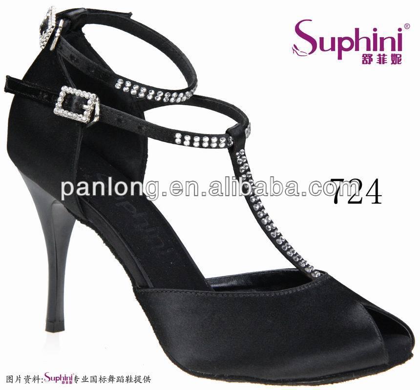 Suphini Top Selling Black Dance font b Shoe b font Classic Lady font b Salsa b