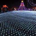 8 Models 2m x 3m 204 Leds Net String Lights Fairy Christmas Mesh Lighting Christmas String for Square Garden Outdoor Decorations