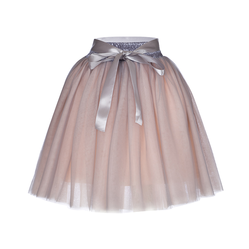 7 Layers 65cm Long Princess Mix Colors Tutu Tulle Skirts Fashion Ball Gown Lolita Skirt Women Summer Saias Femininas faldas Jupe