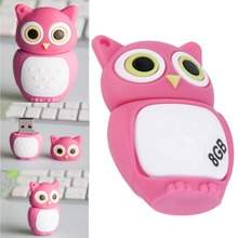 Gift Pen drive cartoon Pink Owl USB 2.0 Memory Flash Stick Storage 8GB U Disk Durable Solid-state Storage High-speed Read