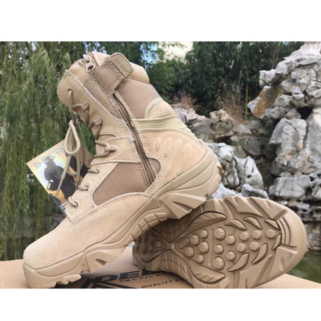 2017  new men military boots leather boots erkek bot askeri bot hombre botas militares tacticas buty taktyczne tactical boots