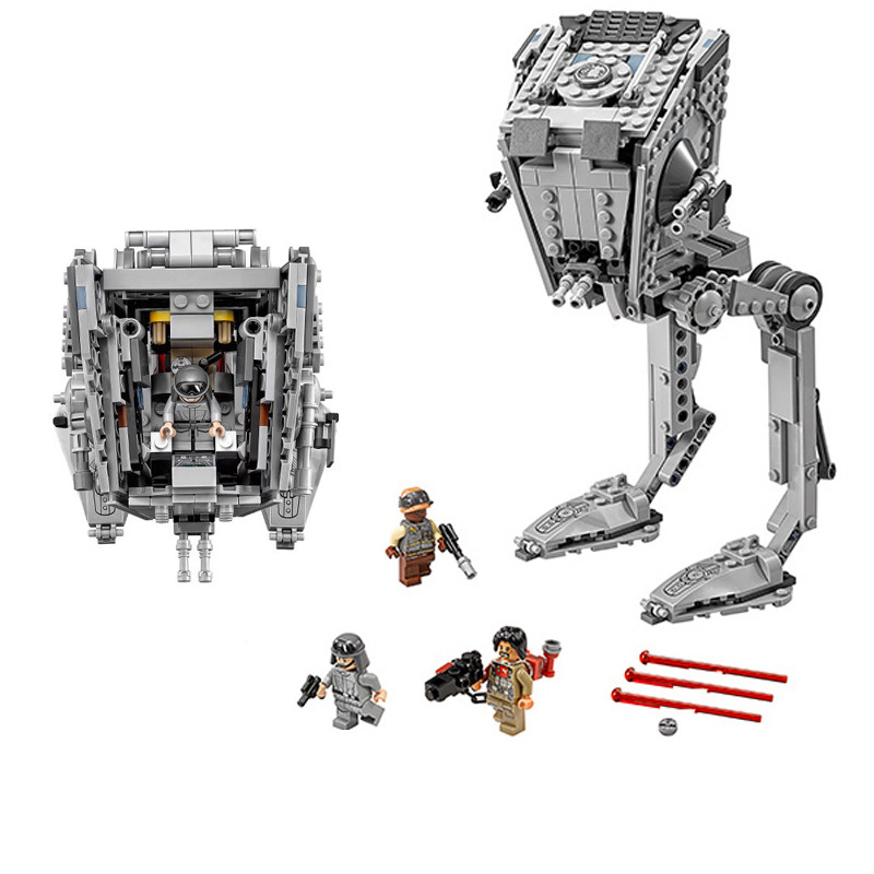 LOZ 471Pcs Star Series War The Rogue One AT-ST Set Walker Educational Building Blocks Bricks Compatible with legoINGly Starwars star series war the rogue one at set st walker educational building blocks bricks toys compatible lepins diy model figures
