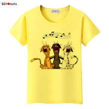 BGtomato lovely pets black cats cartoon t shirts womans super fashion new Brand good quality soft casual tops