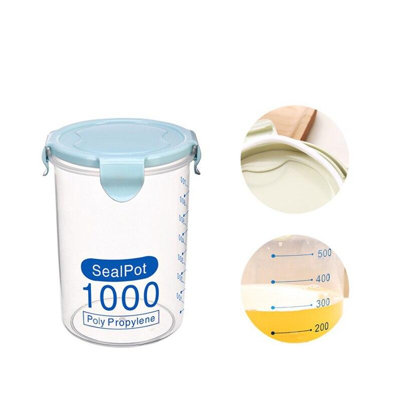 Seal Food Storage Box Bottle Containers Kitchen Storage Home Organizer S-600ml