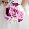 2016 Искусственный Шелк Цветок Брошь Свадебный Букет Кристалл Vintage Boeket Bruiloft Розовые Невесты Холдинг Букеты Невесты