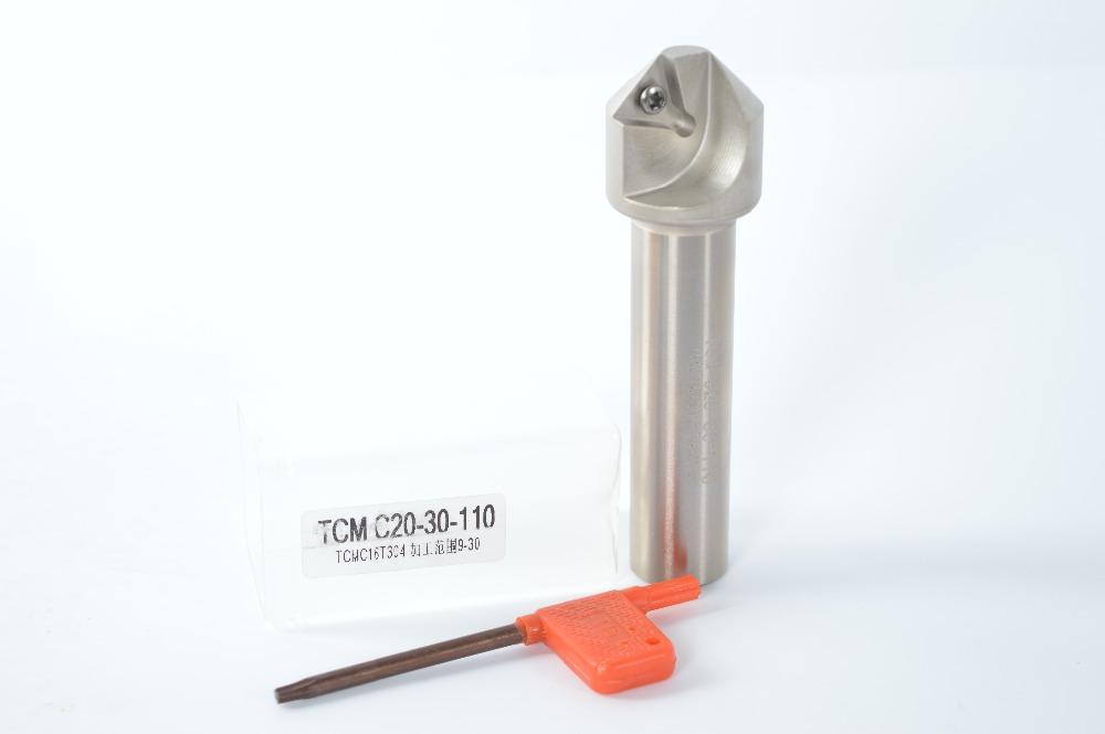 45 Degree  9mm-30mm  Chamfering Drill Tool Holder TCM C20-30-110 For TCMT16T304