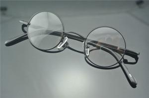 Image 3 - Bisagras de resorte redondas pequeñas para miopía, lentes Vintage de 38mm con monturas para gafas metálicas