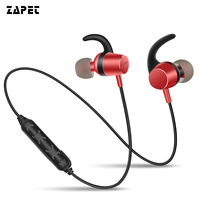 Bass Bluetooth Earphones Metal Magnetic Switch Headphone Neckhang Sports Wireless HIFI Stereo Headset For Smartphone With