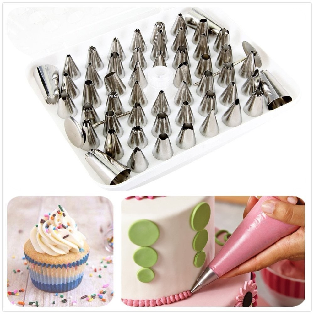 52pcs/set Icing Nozzles Pastry Tips Set Cake Decorating ...