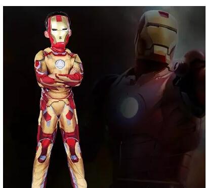 Железный человек Марк 42 / Patriot Мышцы Детский костюм на Хэллоуин Fantasia супергероя для косплея Железного человека костюм с маской