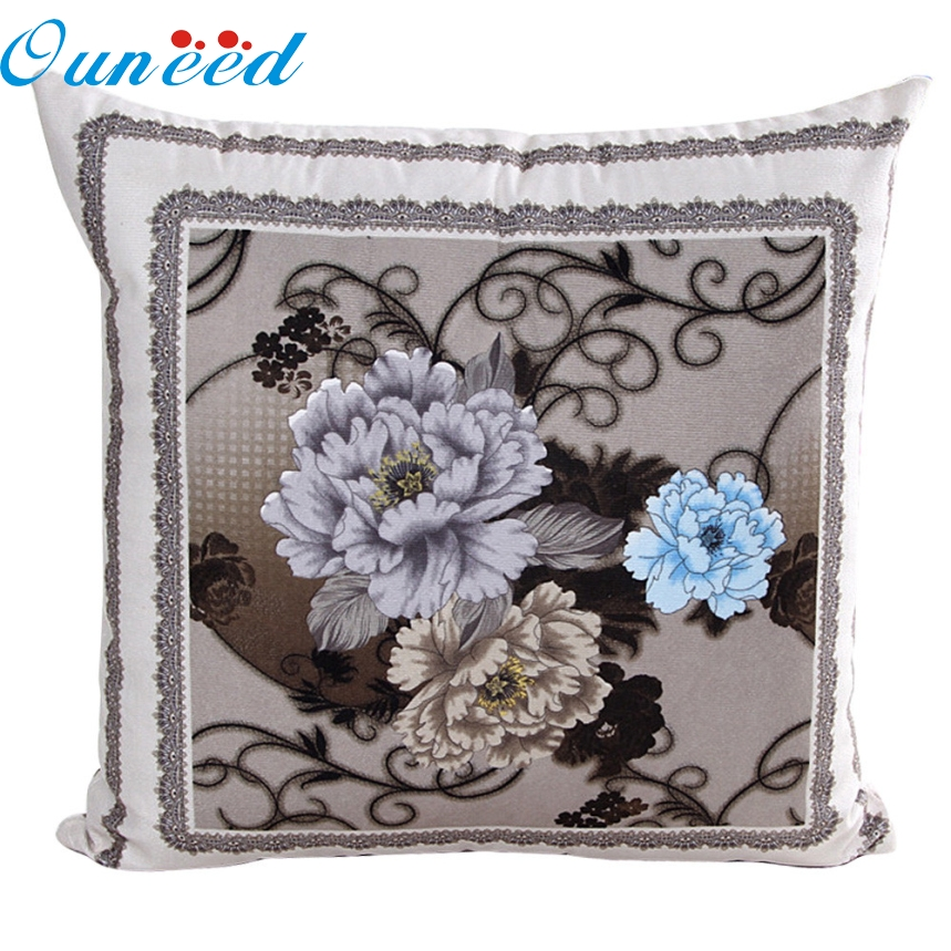 Ouneed TOP Grand Vintage Decorative Home Cotton Linen Pillow Case Cover Room Bed Chair Seat Waist Throw Cushion Pillowcases