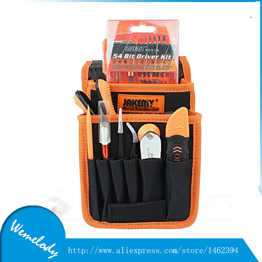 ФОТО JM-P11 69 in 1 Precision Screwdriver set with tweezers toolbox Portable bags Electronic screw driver tools set