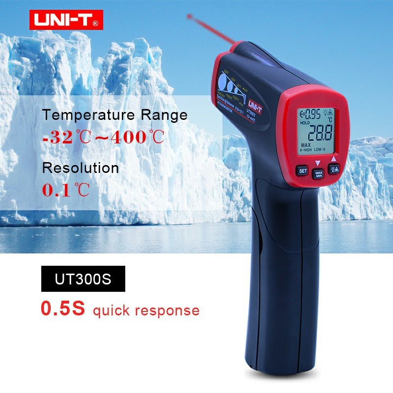 Infrared Thermometer Measure Non-Contact Fast Test Max Min Display Industrial MINI Digital Meter Temperature Scan UNI-T UT300S uni t ut301a infrared thermometer measure temperature from a distance easy to carry non contact fast test temperature