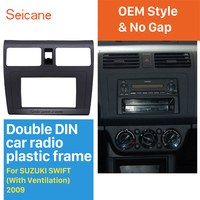 Seicane 173*98mm Double Din Dash kit Cover Trim Car Stereo Fascia for Suzuki Swift with Ventilation Audio Frame Panel